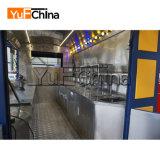 Chariot mobile chaud de nourriture d'acier inoxydable de vente pour vendre la nourriture