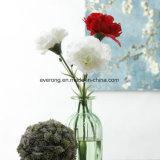 Multi garofano di seta colorato delle teste di fiore artificiale del singolo gambo da vendere