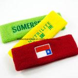 Sweatband su ordinazione della testa di colore giallo di baseball del Terry del cotone del ricamo dei prodotti dell'OEM della fabbrica