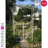 Arcos de jardim de ferro forjado com portão
