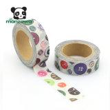 Venta al por mayor japonesa de la cinta adhesiva de Washi del diseño colorido del botón