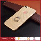 Vielseitiger Schutz-Kohlenstoff-Faser-Kasten mit Metallring-Halter Kickstand für iPhone 7