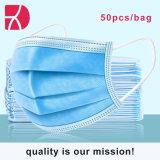 Groothandel goede kwaliteit 3ply Earloop Disposable Face Mask