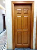 Porte en bois solide découpant l'usine en bois intérieure de Foshan de porte de modèle