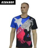 Commerce de gros de l'impression personnalisée le design de mode Appuyez sur T-Shirts (T011)