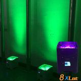Rasha Kern 4*18W 6in1 Rgbaw batteriebetriebenes bewegliches LED Uplight UVlicht des APP-Stadiums-DMX