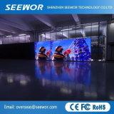 Hohe Miete LED-Bildschirmanzeige der Definition-P6.66mm im Freienmit leichtem Schrank