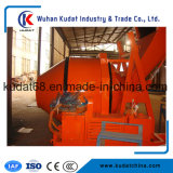 misturador 350L concreto elétrico com o funil de derrubada hidráulico