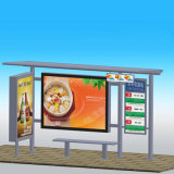 Cadre léger de bus d'arrêt de publicité chinoise d'abri avec le banc