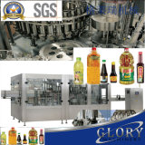 Automatische Honig-Füllmaschine in den Flaschen und in den Dosen