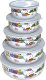 5pcs émail multicolore bol pour la nourriture froide gelée/bol de stockage