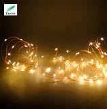 luz feericamente da corda do fio de cobre dos 10m 20m 30m para o Natal