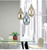 Lâmpada de vidro Home creativa ambarina moderna do pendente da luz de teto