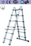 escala telescópica plegable de aluminio de los pasos de progresión de la altura 13 de la extensión de los 3.8m
