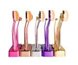 Verfassungs-Pinsel-Zahnbürste-Form-Arbeitsweg-kosmetischer Pinsel-Set-goldener Griff mit Halter