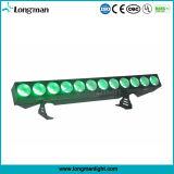 12X25W Rgbaw 5in1 lineare LED Wand-Unterlegscheibe für Fernsehapparat-Erscheinen