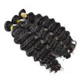 100g 브라질 깊은 파 머리 직물은 Non-Remy 머리 100% 사람의 모발을 묶는다