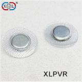 合わせたPVCカバー円形の金属のコップボタンの磁石