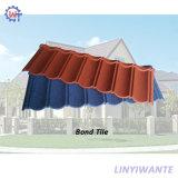Nuove mattonelle di tetto ricoperte pietra dell'obbligazione dell'acciaio del materiale da costruzione