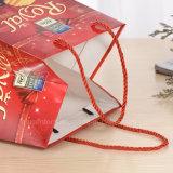 Laminación brillante papel de alta calidad Bolsas de regalos con asas