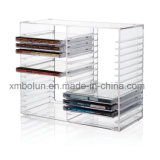 Présentoir CD de table acrylique de qualité fiable chaude neuve de mode