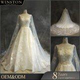Soem-Hersteller-Hochzeits-Kleider plus Größe mit Hülsen