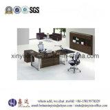 Стол управленческого офиса ног самомоднейшей мебели деревянный верхний стальной (1315#)