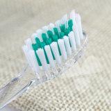 Toothbrush transparente do adulto do uso da HOME do espaço livre do punho de PETG