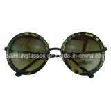 Personal Vintage gafas de sol lentes de espejo redondo con puente de metal