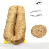 27 штук человеческого волоса плетение волос добавочный номер