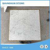 Qualitäts-Carrara-weiße runder Tisch-Marmorierungoberseite