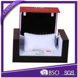 Kundenspezifische Firmenzeichen-quadratische Luxuxuhr-verpackender lederner Kasten