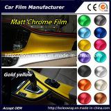 Interior de la película de Fábrica de Venta caliente film adhesivo de vinilo adhesivo decorativo, coche de cromo mate Tamaño de la película elija