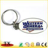 Logotipo feito sob encomenda todos os tipos da corrente chave do metal do Keyring da forma