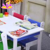 A tabela e a cadeira de madeira prées-escolar as mais quentes novas das crianças ajustaram-se com 1 tabela e 4 cadeiras W08g240