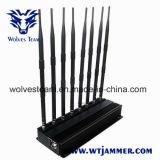 GPS van WiFi van de hoge Macht de Stoorzender van de Telefoon van de Cel en de UHFStoorzender van VHF Lojack