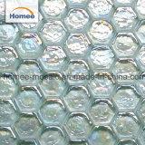 Stock Salle de bains fissuré ondulées cassé irisé Mosaïque de verre cristal hexagonal