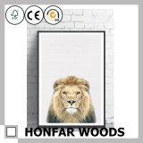 Het Schilderen van de Kunst van de Decoratie van de leeuw met Houten Frame voor het Art. van de Muur