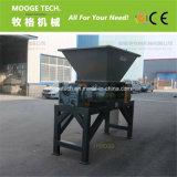 O eixo duplo de madeira/carboard/máquina triturador de metal