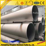 China fabricante de aluminio personalizado cuerpo hueco extrusión de aluminio de gran diámetro del tubo/tubo
