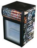 Petit congélateur de table personnalisé droit d'étalage de compresseur d'éclairage LED (JGA-SC20)