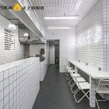 """4 mattonelle bianche del sottopassaggio """" di X4 """" 10X10cm per la cucina e la stanza da bagno"""