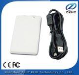 Lecteur de RFID de bureau compact de la fréquence ultra-haute USB de coût bas, auteur de puce, encodeur de carte