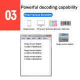 Explorador del código de barras de la mesa del código de barras de la pantalla 1d 2.o de la lectura del sensor de IP42 Cmos 2.o (HM6)