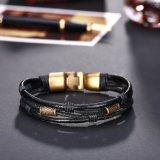 Weinlese flocht Wristband-Seil-Verpackungs-handgemachte lederne Armbänder