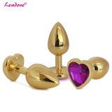 Speelgoed van het Geslacht van de Juwelen van het Kristal van de middelgrote Grootte het Gouden Hart Gevormde Anale