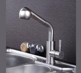 Faucet da cozinha do furo do estilo moderno o único com retira o pulverizador