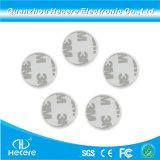 Hf 13.56impermeável MHz 25mm N213 Ronda RFID NFC Etiqueta PVC autocolante 3m Smart Card Tipo Moeda