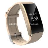 Braccialetto astuto del Wristband di frequenza cardiaca del video dell'ossigeno astuto di pressione sanguigna