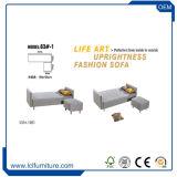 Châssis en bois massif en cuir prix bon marché moderne Canapé-lit